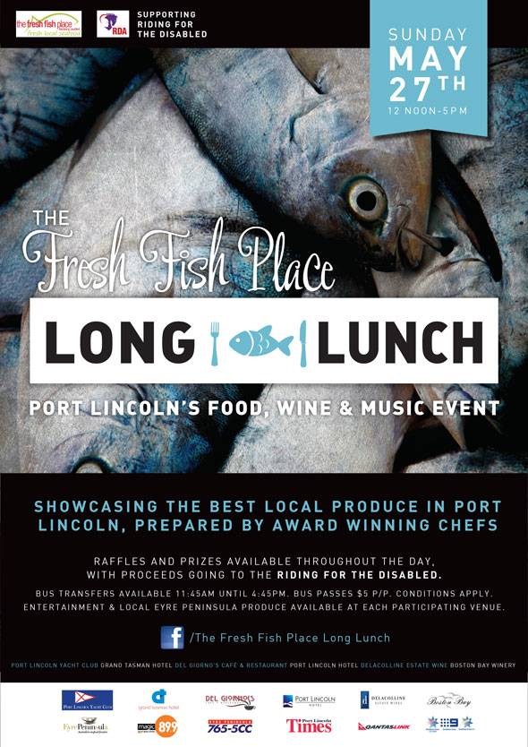 The Fresh Fish Place Long Lunch Flyer