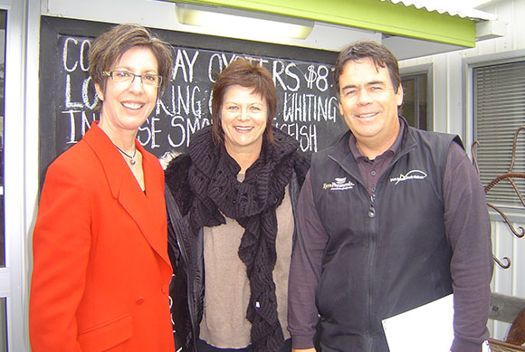 Craig and Sandy with Minister Gago