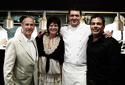 Celebrity Chef Justin North with Sandy and Craig