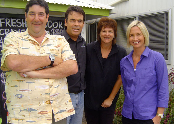 Tim Smith and Brooke Hanson with Sandy and Craig at the Fresh Fish Place
