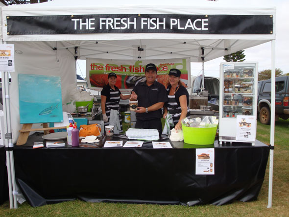 Sandy, Craig and Deb manning the stall at the Coffins Bay Farmers Market