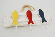 Hooks with three fish on a hanger