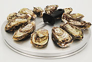 round oyster tray for cooking and serving